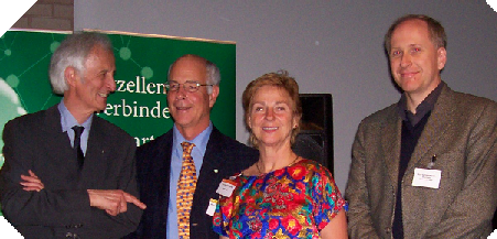 Picture of Michael and Fran Fellows, Rolf Niedermeier and Helmut Schwarz